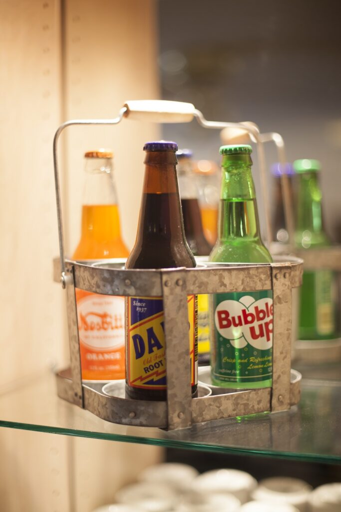 bottles of pop