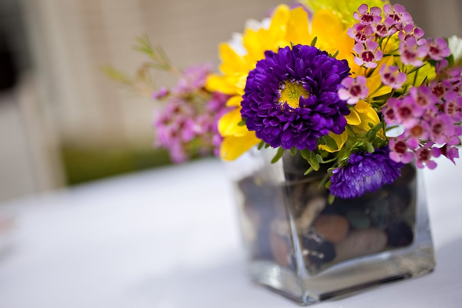 Flowers In Square Vase | Pleasant Hill