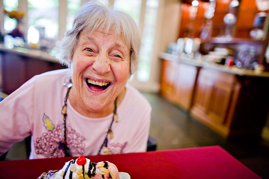 Smiling Resident With Ice Cream | West Seattle