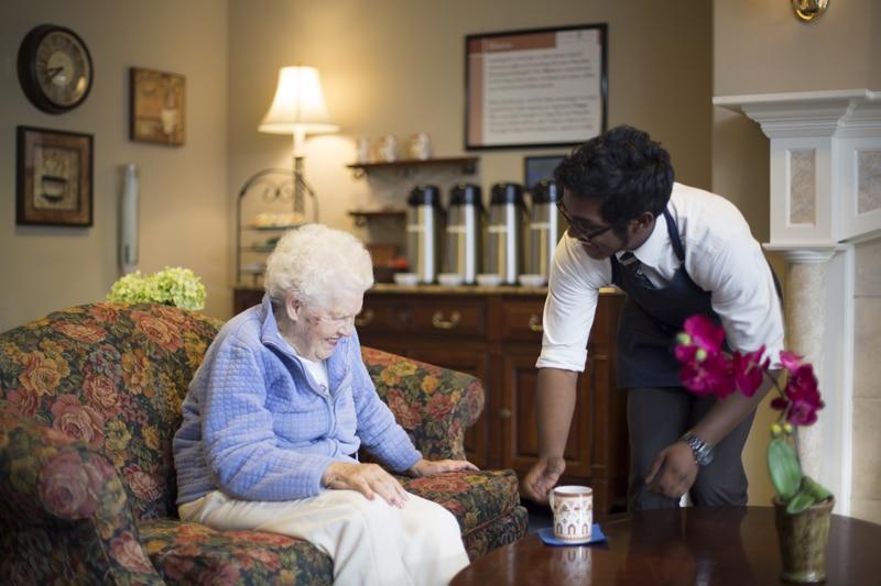 Serving Tea In Bistro   Kirkland