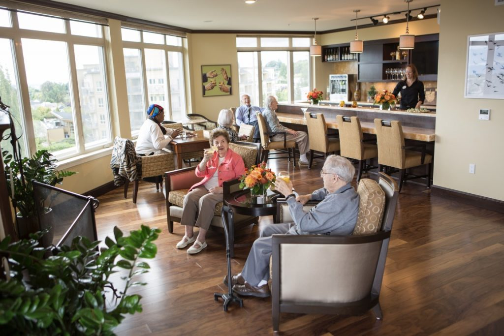 residents in madison sky lounge