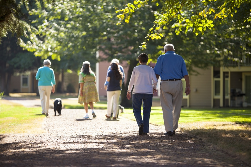 Redmond Residents Walking On Path | Redmond