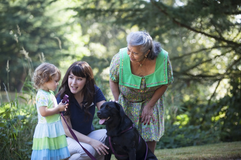 Redmond Resident With Child And Dog | Redmond