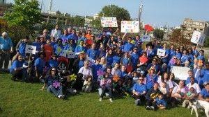 Aegis Living staff group photo at 2012 Alzheimer's Walk