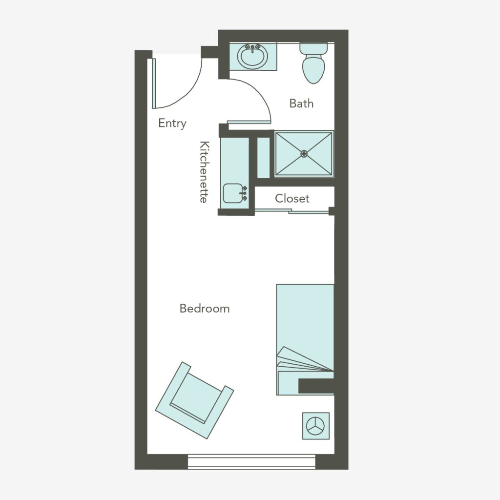 Small Studio Floorplan