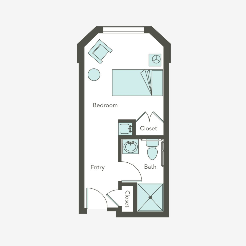 Aegis Living at Callahan House studio floorplans