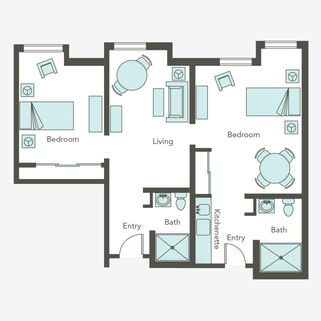 Assisted Living Two Bedroom   Aegis Lodge (Kirkland)