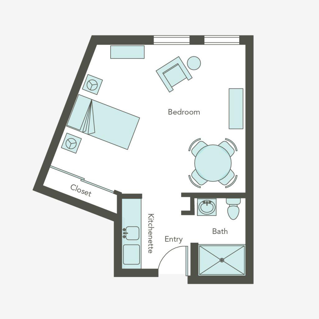 Assisted Living Large Studio   Aegis Lodge (Kirkland)