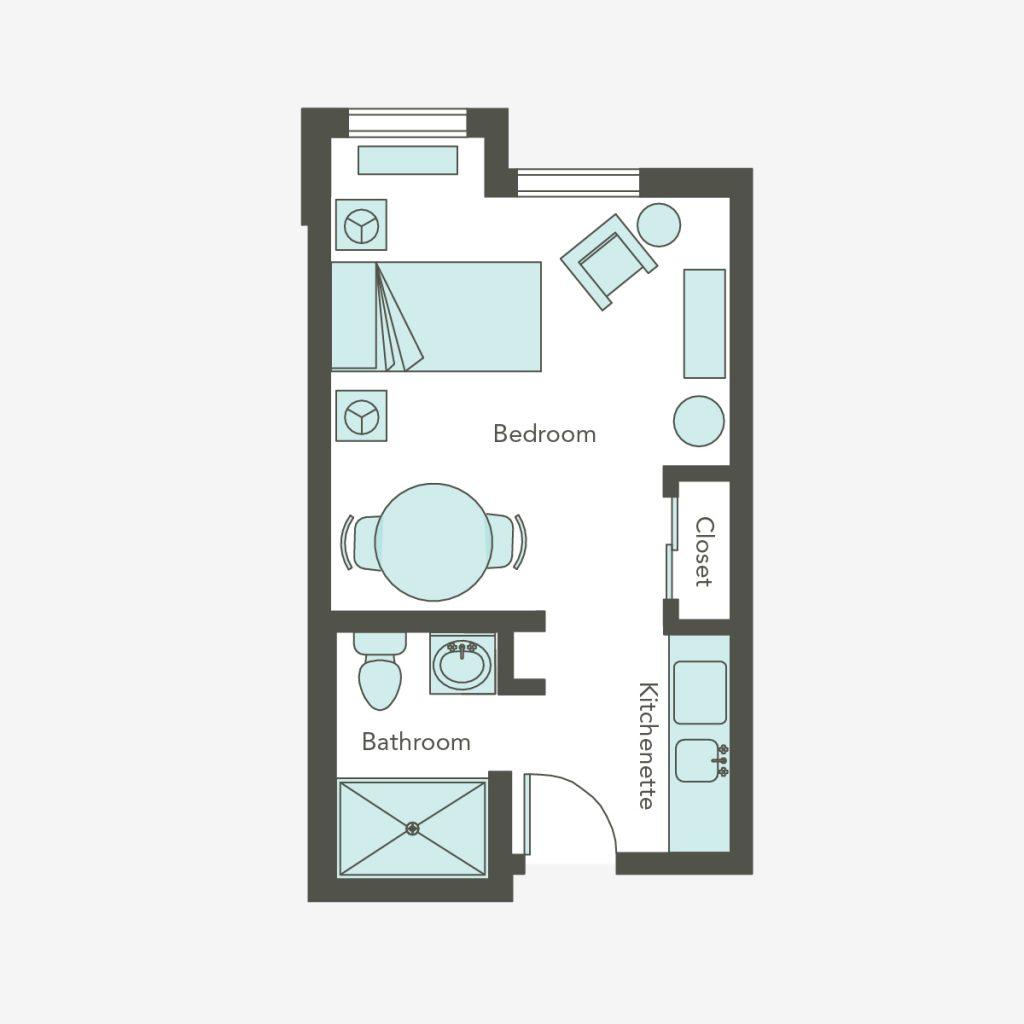 Assisted Living Small Studio | Aegis Lodge (Kirkland)