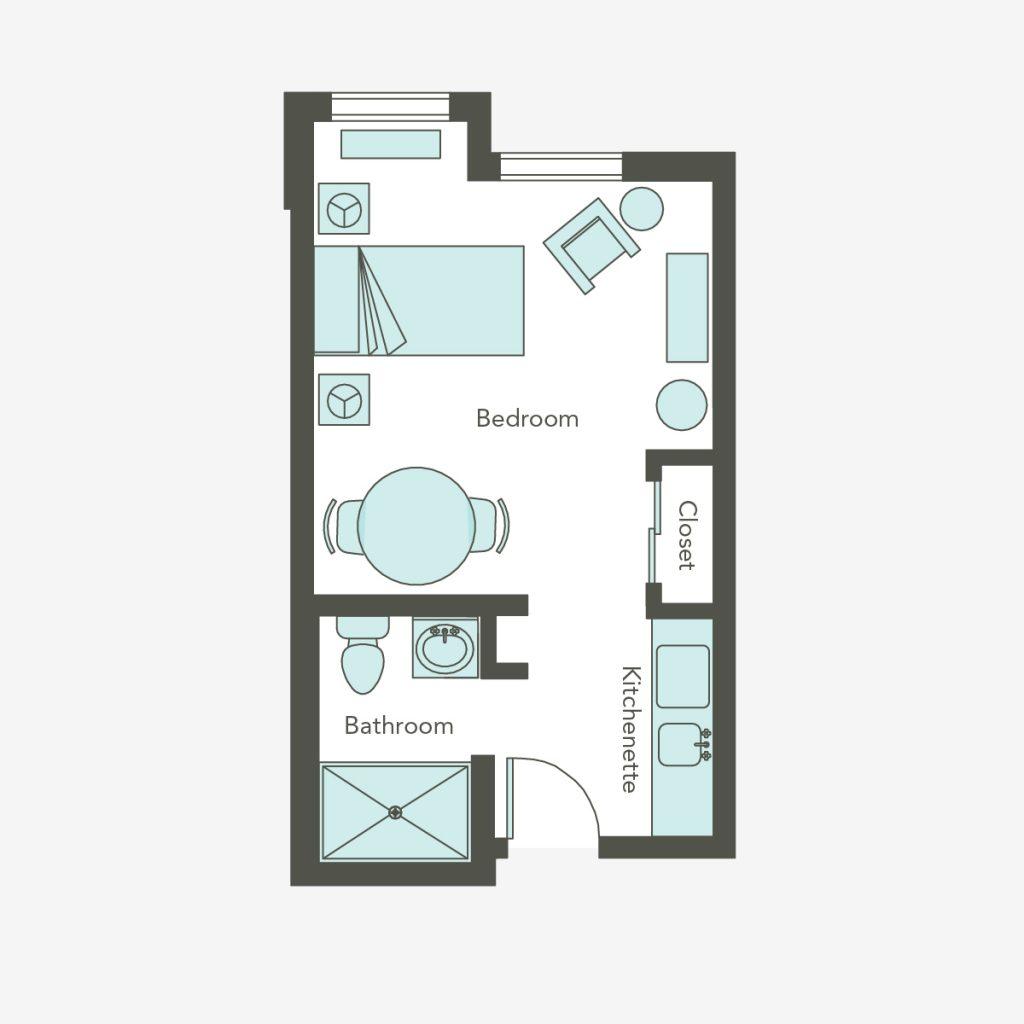 Memory Care Small Studio   Aegis Lodge (Kirkland)