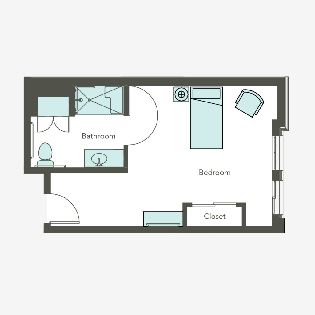 Memory Care Studio Floorplan