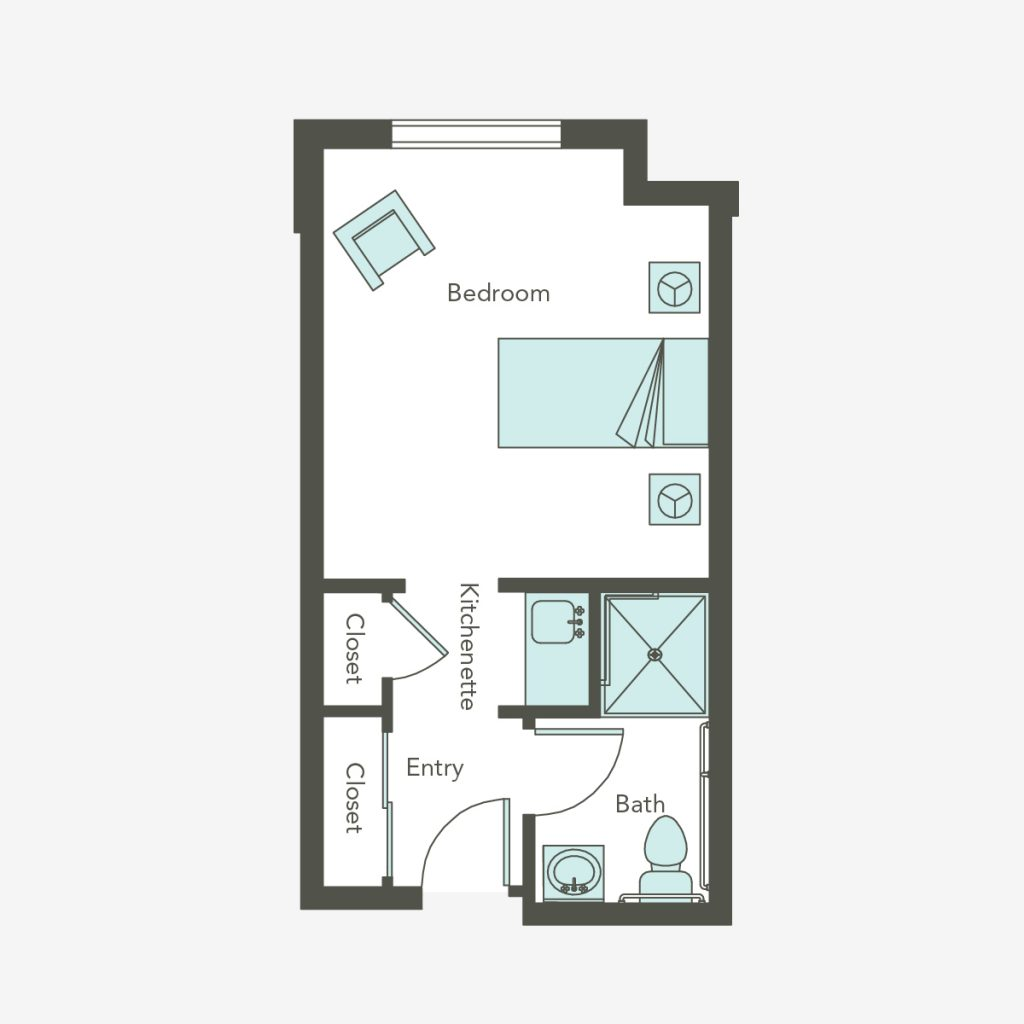 Deluxe Studio Floorplan