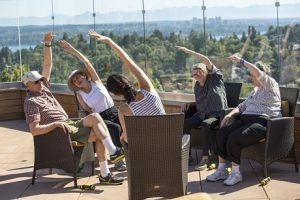 assisted living residents exercising
