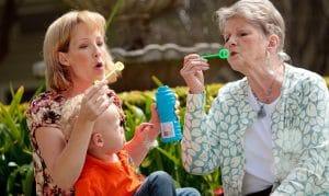 bubbles with grandma