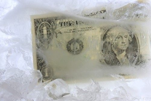 Money in the freezer