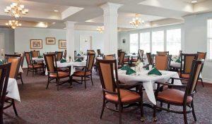 Dining room at Aegis of Napa