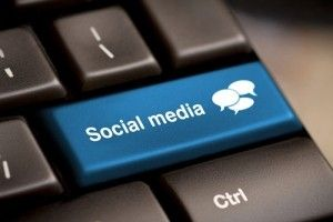 "the shift key on a keyboard saying ""social media"""