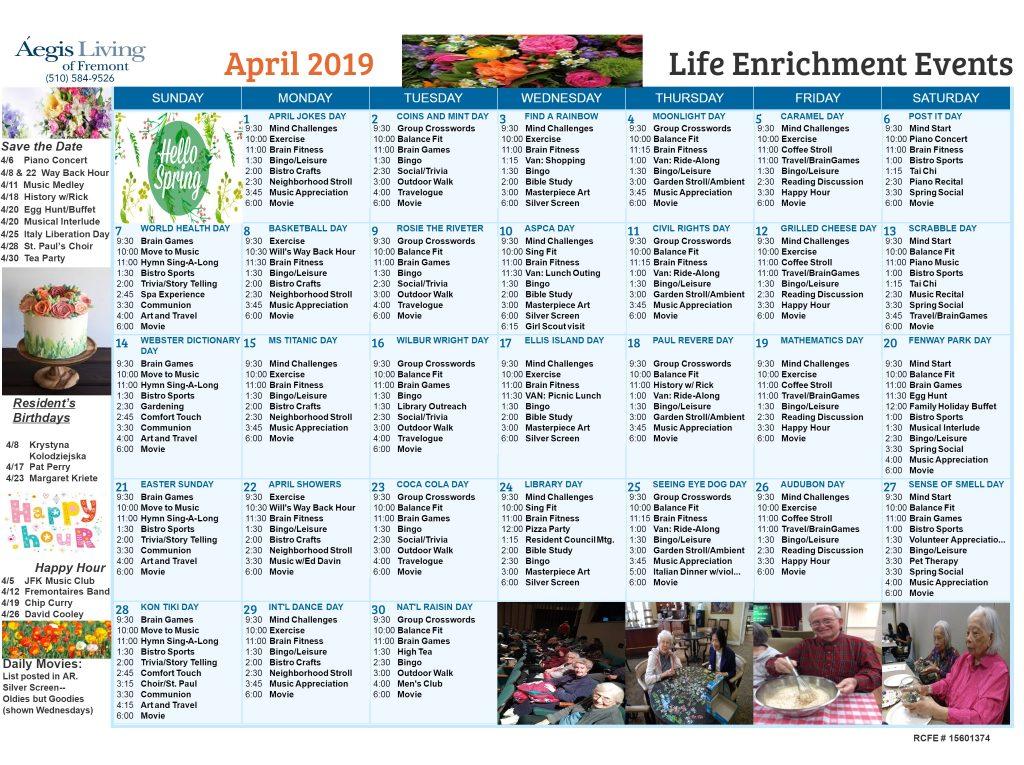 Fremont AL - April 2019 Calendar