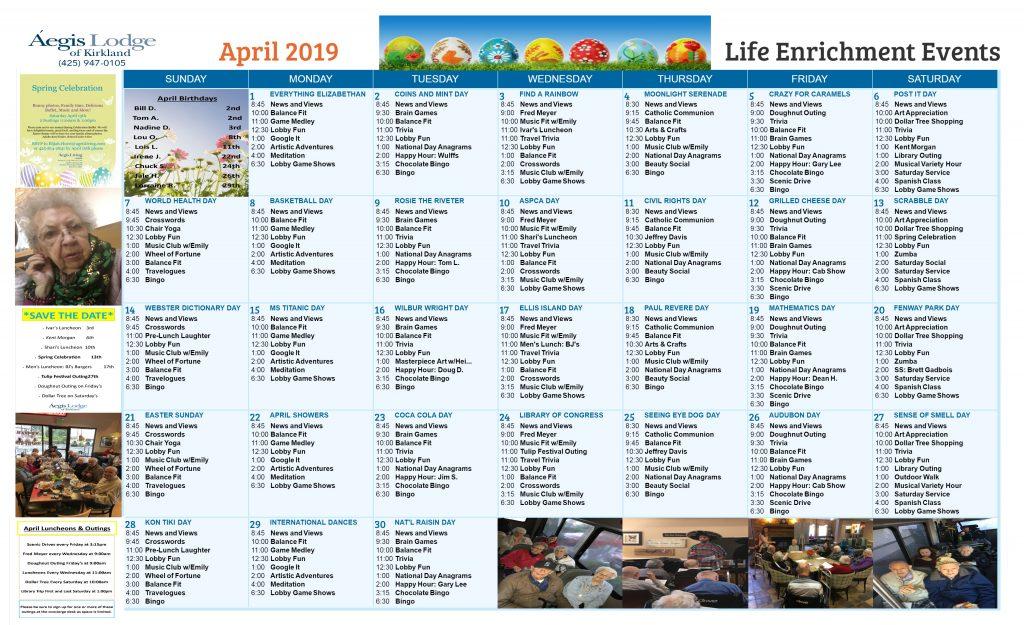 Lodge AL April