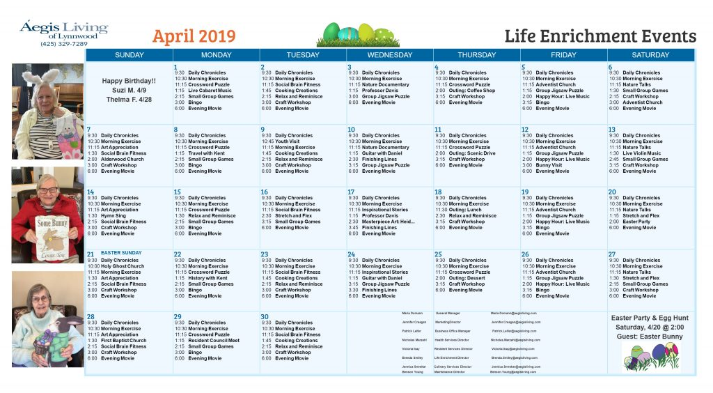 Lynnwood AL April 2019