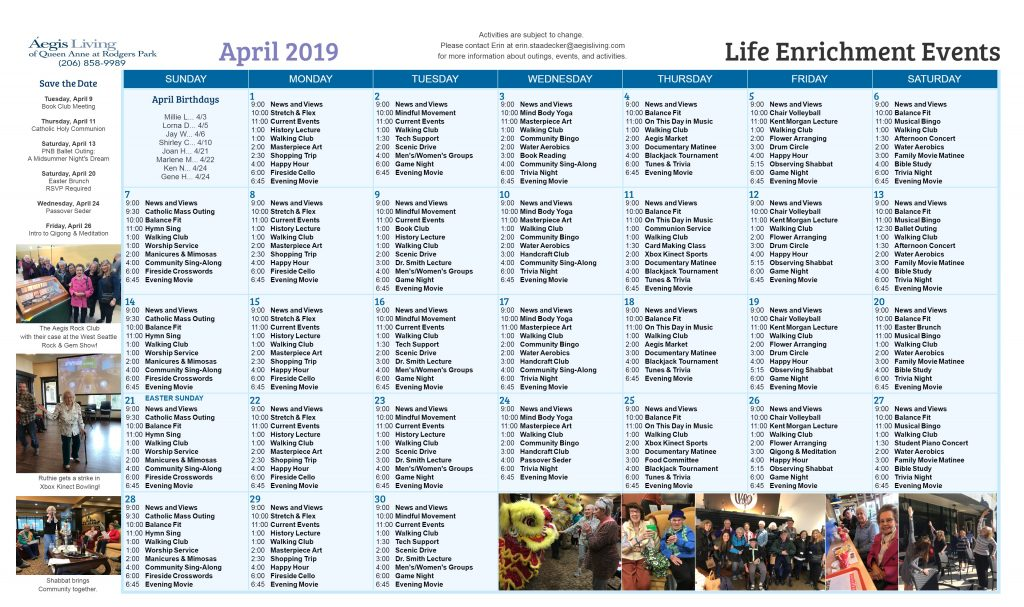 Rodgers Park - AL April 2019