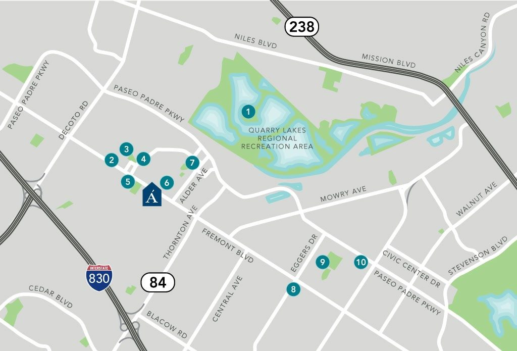 Aegis Gardens Fremont Map