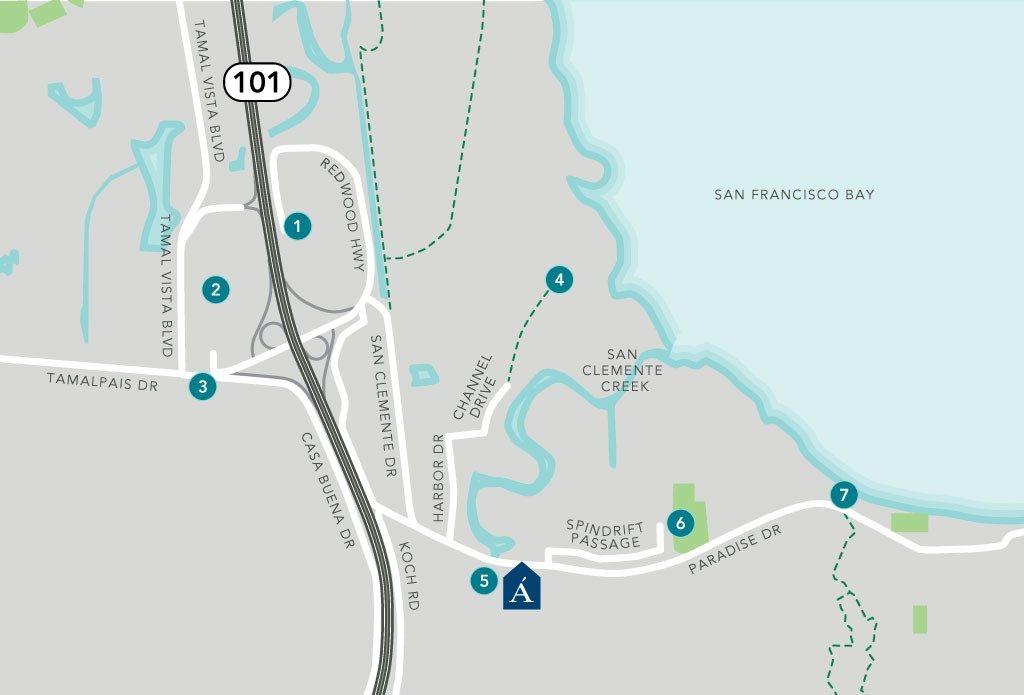 Corte Madera - Map
