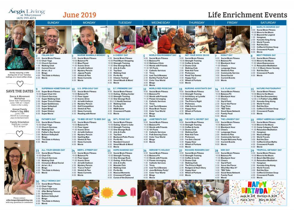 Marymoor AL Newsletter June 2019
