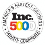 "Inc. Magazine Logo encircled by ""America's Fastest-Growing Private Companies"""
