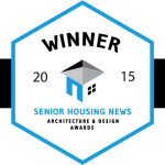 Winner Badge for 2015 Senior Housing News Architecture and Design award