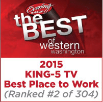 King-5 TV Best Place to Work (Ranked #2 of 304) Logo