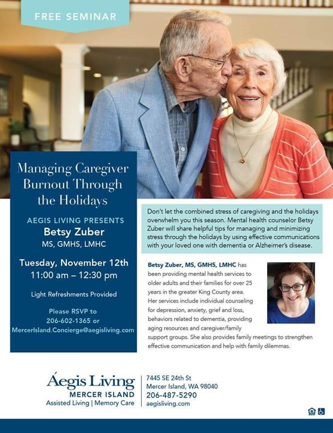 Mercer Island Holiday Speaker Event