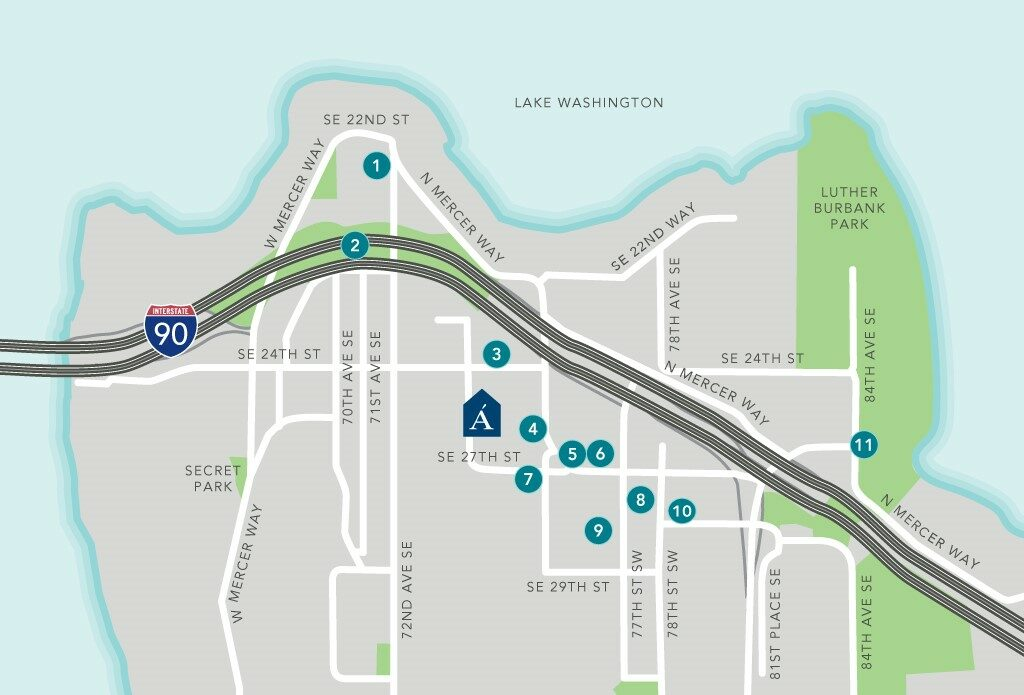 Mercer Island Map updated