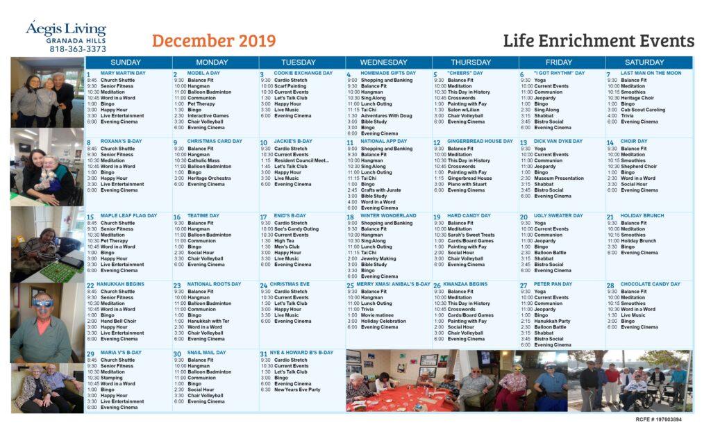 Granada Hills AL December 2019