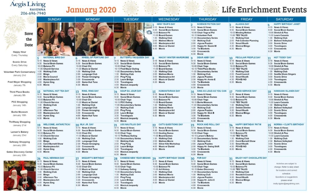 Ravenna January 2020 Calendar