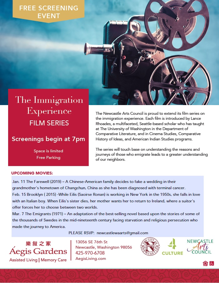 The Immigration Experience: Film Series | Aegis Living