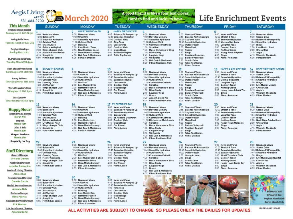 Aptos Calendar
