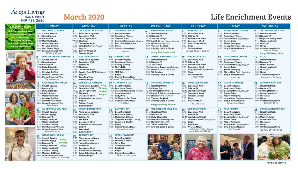 Dana Point Calendar