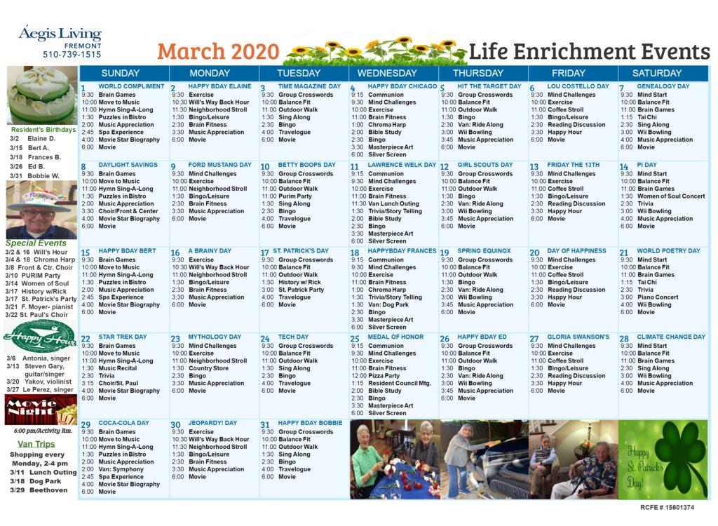 Fremont Calendar