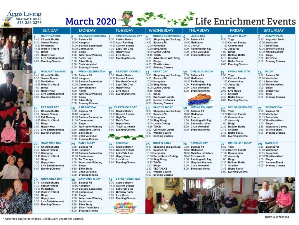 Granada Hills Calendar