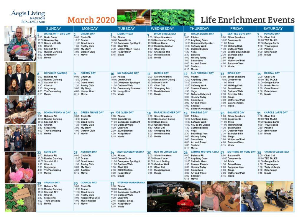 Madison Calendar