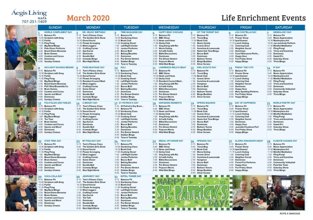 Napa Calendar