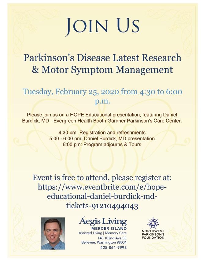 Parkinson's Disease Latest Research | Aegis Living