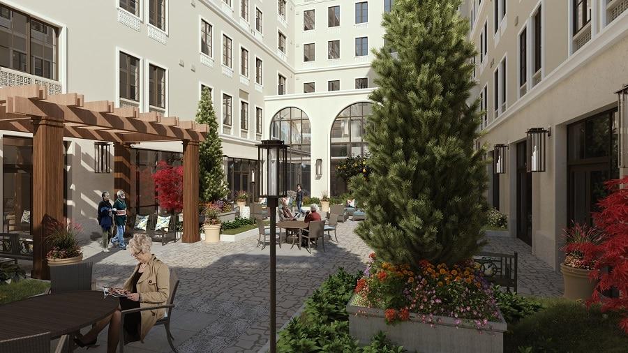 overlake courtyard rendering
