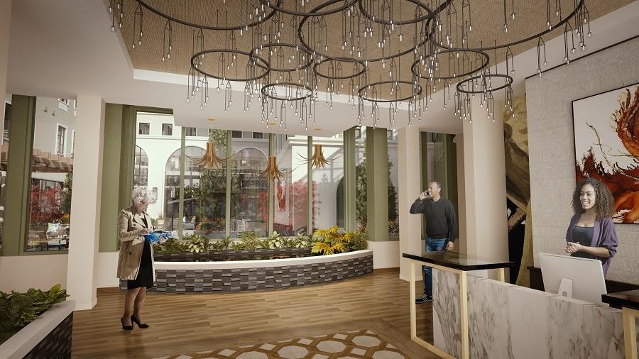 overlake lobby rendering