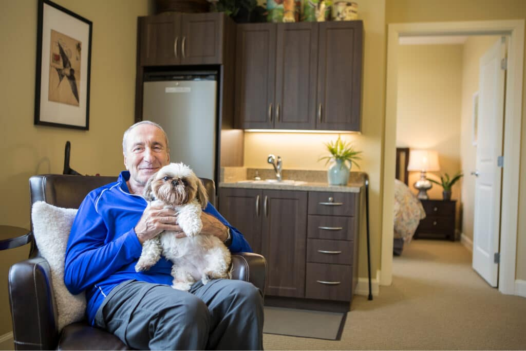 Where to Begin man with dog in apartment
