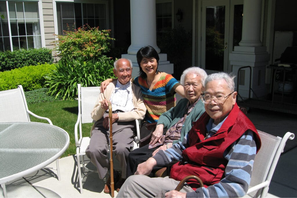 Where to Begin staff with residents outside