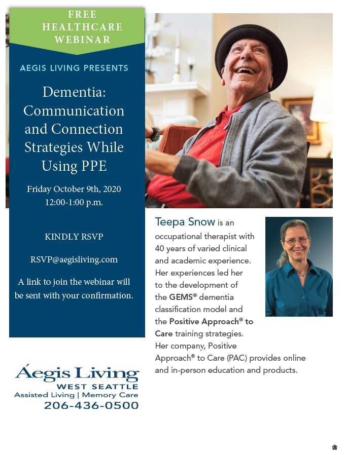Free Webinar: Dementia: Communication & Connection | Aegis Living