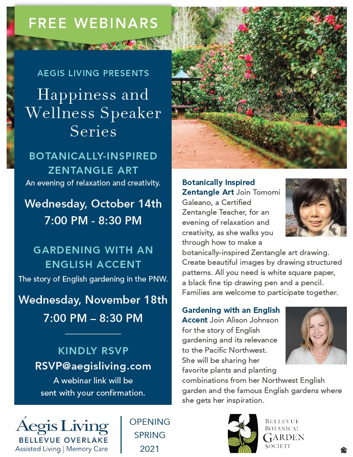 Free Webinar: Happiness & Wellness Speaker Series | Aegis Living
