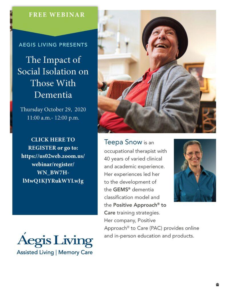 10.29 SOCIAL ISOLATION TEEPA SNOW Event